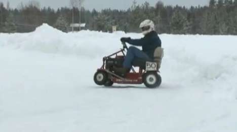 lawnmower ice racing