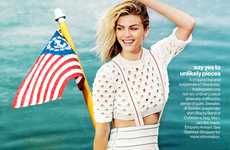 Waterfront Americana Editorials - Brooklyn Decker Poses for Glamour US
