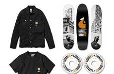 Tri-Hued Skater Gear - The 5boro X Carhartt Collection is Simple and Memorable