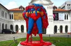 Melting Superhero Sculptures - 'No One Can Save Us Now' is a Take on Global Warming
