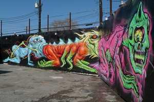 The Collaborative Mural 'TexAss Centipede' is Delightfully Disturbing