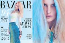 Icy Preppy Editorials - The Harper's Bazaar Turkey 'Pastel Ruyalar' Shoot Stars Katrin Thorman