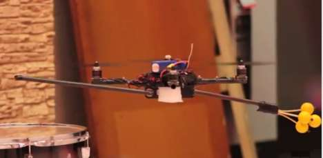 Robot Quadrotors Perform James Bond