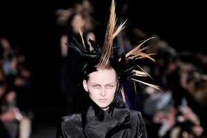 The Ann Demeulemeester Autumn/Winter 2012 Collection is a Gothic Explosion