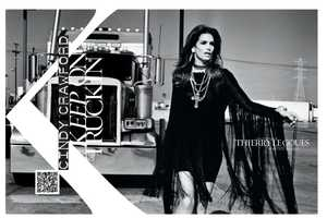 The French Revue de Modes 'Keep On Truckin' Shoot Stars Cindy Crawford