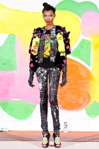 Eccentric Texture-Enriched Runways - The Manish Arora Fall 2012 Collection is Eclectically Elegant