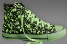 Customizable Luminescent Kicks - The Glow in the Dark Converse Shoes are Designed by You