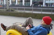 Local Pipe Loungers - Oliver Show 'Street Furniture' Turns Public Places into Living Spaces