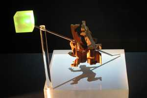 The Magic Angle Sculptures by John V Muntean Change with a Twist