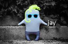 Contemporary Cuddly Companions - The Fiti Handmade Little Monsters are Adorable