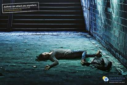 Alleyway Attack Ads - The World Asthma Foundation Campaign Shows That the Disease Can Hit Anytime