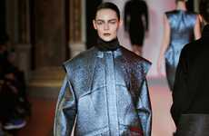 Architecturally Cut Collections - The Hakaan Fall 2012 Runway Show is Edgy and Futuristic