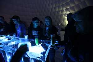 The 'Iglounge' is a Warm Party Haven