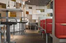 Futuristic Fast Food Shops