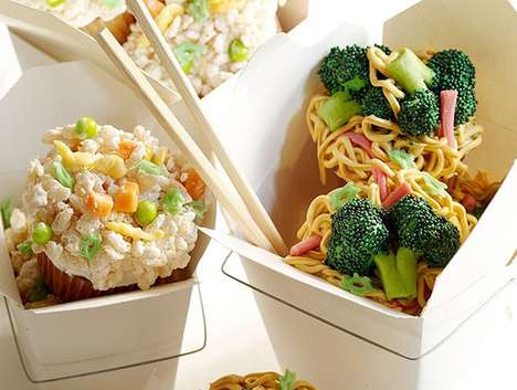 Cunningly Cute Noodle Cakes - These Chinese Takeout Cupcakes Are Delicious and Deceptive