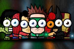 The Big Eyed Tiny Superheroes by Ahmad Kushha are Adorable