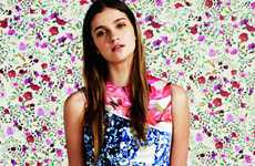 Bulbous Floral Fashions - The Mary Katrantzou for Topshop Collaboration is Extremely Structural