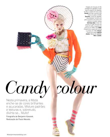 Seductively Sweet Spring Looks - Dani Seitz is 'Candy Coloured' for Vogue Portugal April 2012