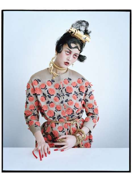 Creepy Geisha Captures - The Tim Walker for W Magazine Editorial is Mysterious and Moody