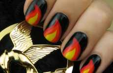 Rebel Character Manicures - The 'Hunger Games' Nails by Cutepolish are Fierce and Chic