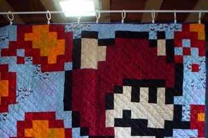 Nintendo-Inspired Quilts Conjure 8-Bit Memories