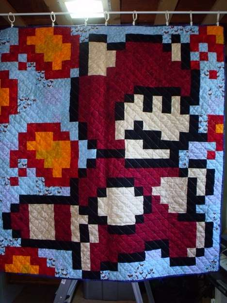 nintendo-inspired quilts