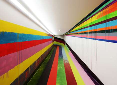 Rainbow Prison Corridors - This Markus Linnenbrink Commission is Unconventional