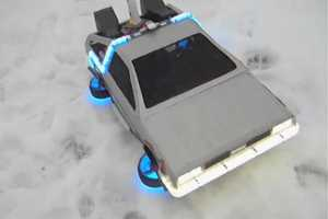 Quadrotor Technology Makes This Replica Delorean DMC-12 Fly