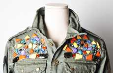 The Runway Jewelry Deco Military Jacket is Avant-Garde