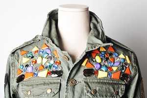 The Runway Jewelry Deco Military Jacket is Avant-Garde