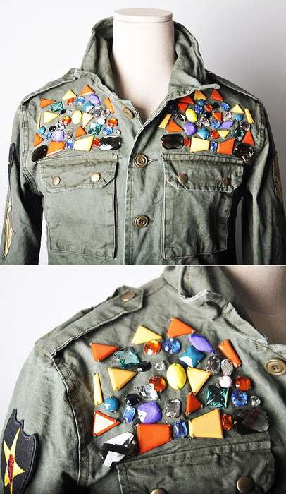 Runway Jewelry Deco Military Jacket