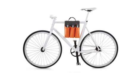 Bicycle Beer Sadlebags - The 6 Pack Bike Bag Allows Riders to Carry Multiple Drinks