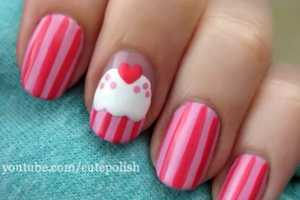 This Cute Cupcake Nail Art by Cutepolish is Sweet Enough to Eat