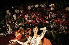 Floral Backseat Fashion - The Uterque Spring 2012 Ad Campaign Has a Traveling Theme