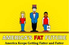 Horrifying Health Prediction Charts - The Fat Future of America Infographic Paints a Grim Picture