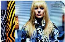 Edgy Animalistic Shoots - Candice Swanepoel Stars in a Glam Editorial for Vogue Italia March 2012