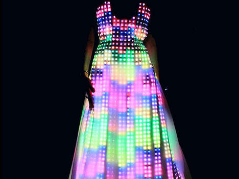 Glowing LED Gowns - The Aurora Dress by CuteCircuit is for Classy Ravers