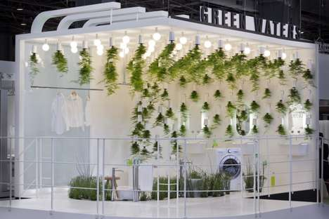 Grassy Bathroom Installations - Green Waters by Patrick Nadeau Promotes Eco-Friendly Material