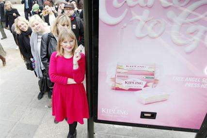 Sweet-Issuing Billboards - The Mr. Kipling Cake Dispenser in London Uses Experiential Marketing