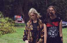 Badass Backyard Shoots - The Boneyard Misfits Editorial Features Eclectic Wardrobe Selects