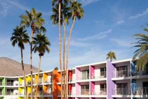 The Saguaro Hotel in Palm Springs Lets You Experience the Rainbow
