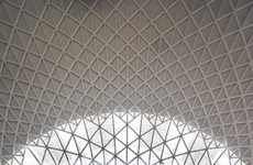 Geometric Dome Structures - The King's Cross Train Station Redevelopment is Dynamically Designed