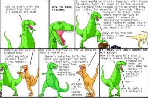 Prehistoric Dinos Discuss Present-Day Problems in Dinosaur Comics Series