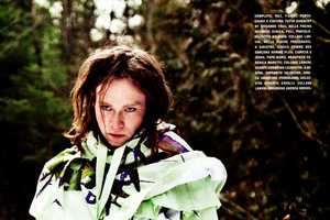 The Caleb Landry Jones L'Uomo Vogue Shoot is Fearlessly Styled