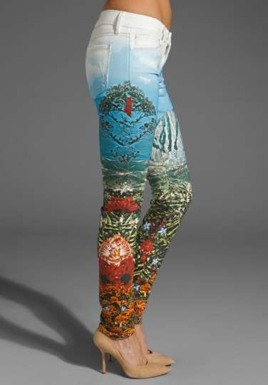 Nature-Infused Denim - The Mother Denim 'Landscape' Jeans are a Work of Art