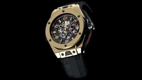 Opulent Gold Timepieces