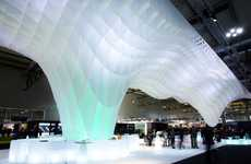 Ice Berg-Mimicking Installations - The Mido Fair Stand is an Artful and Dynamic Architectural Piece