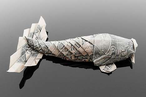 Pricey Paper Origami - Artist Craig Folds Five Uses Cash to Make Paper Animals