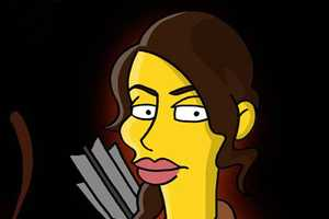 The Hunger Games Characters as Simpsons Stars are Hilarious