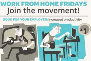 The 'Work From Home Fridays' Infographic Discusses Productivity